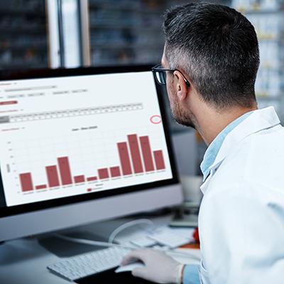 Statistiken zu Ausgaben und Patienten der eigenen Apotheke abrufen